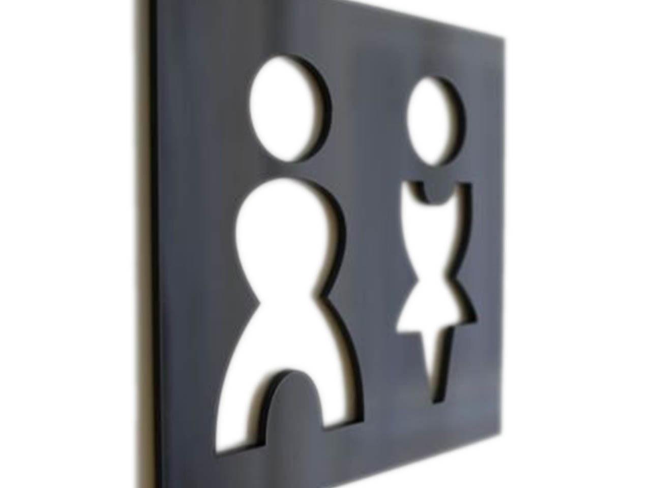 """Acryl-Türschild """"Mann und Frau"""""""