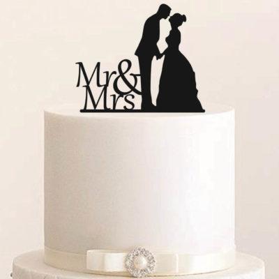 """Cake Topper """"Hochzeitspaar Mr & Mrs"""""""