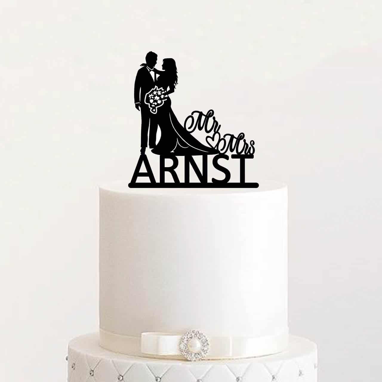 """Cake Topper """"Hochzeitspaar"""" – Personalisiert"""