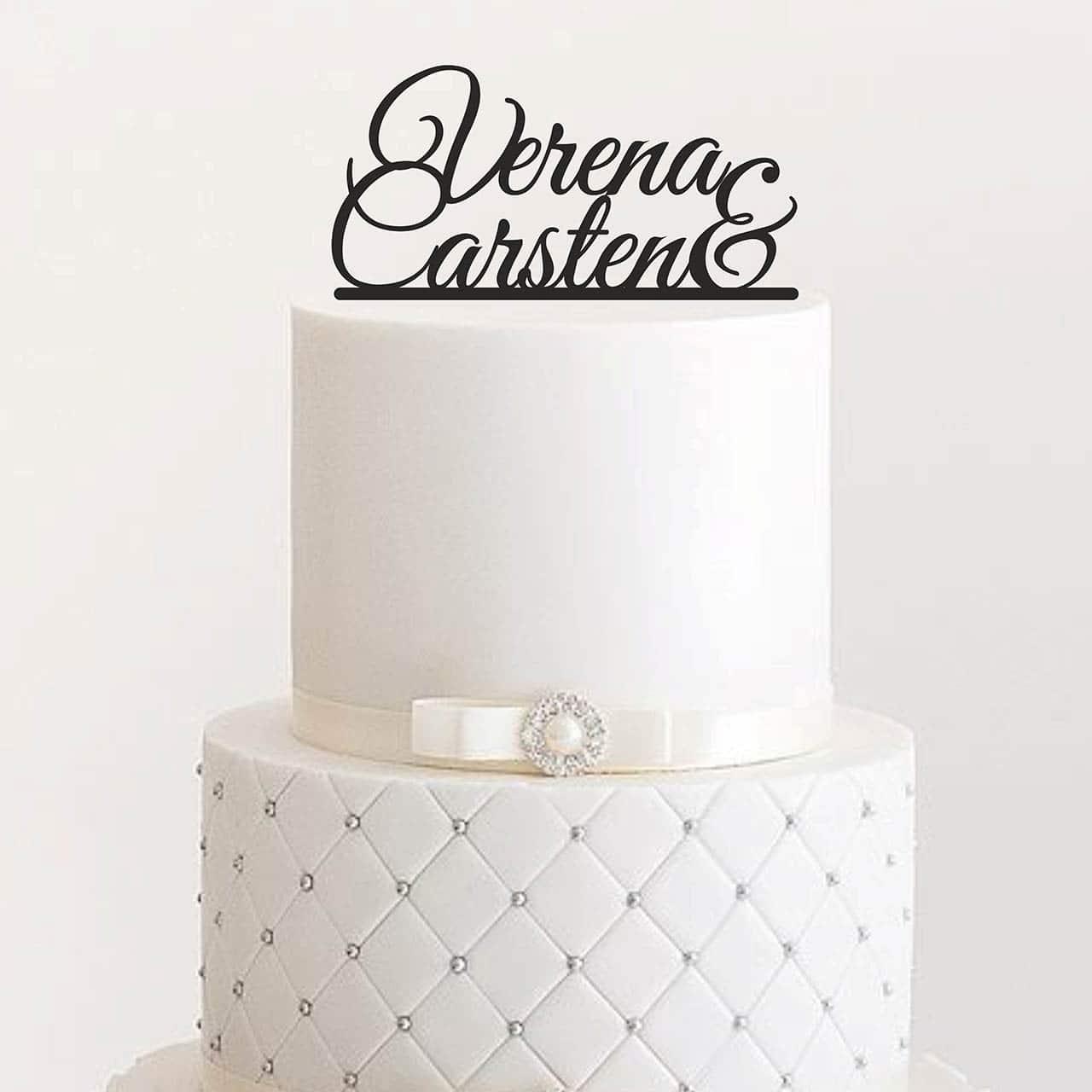 Cake Topper Vornamen Personalisiert Manschin Laserdesign