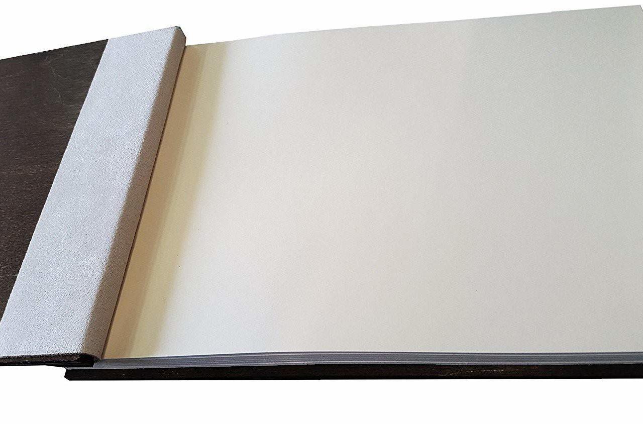 """Holz-Gästebuch """"Herz & Ringe"""" – Personalisiert"""