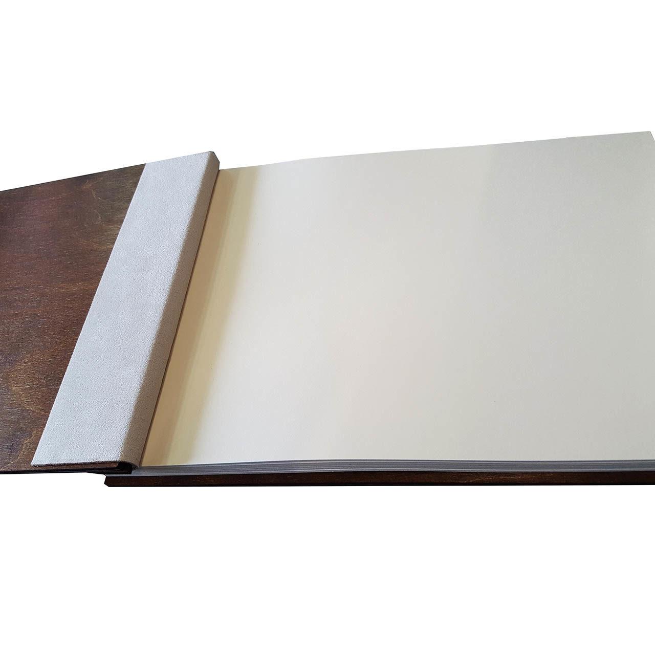"Holz-Gästebuch ""Ja"" - Personalisiert"