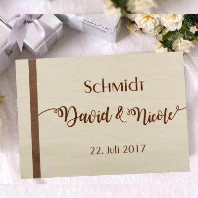 "Holz-Gästebuch ""Edel"" - Personalisiert"