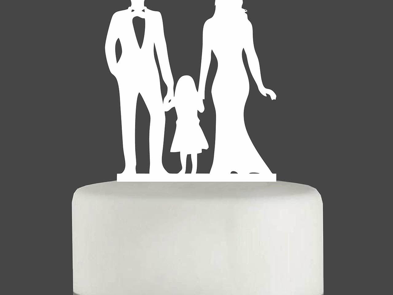 """Cake Topper """"Mann mit Frau und Mädchen"""""""
