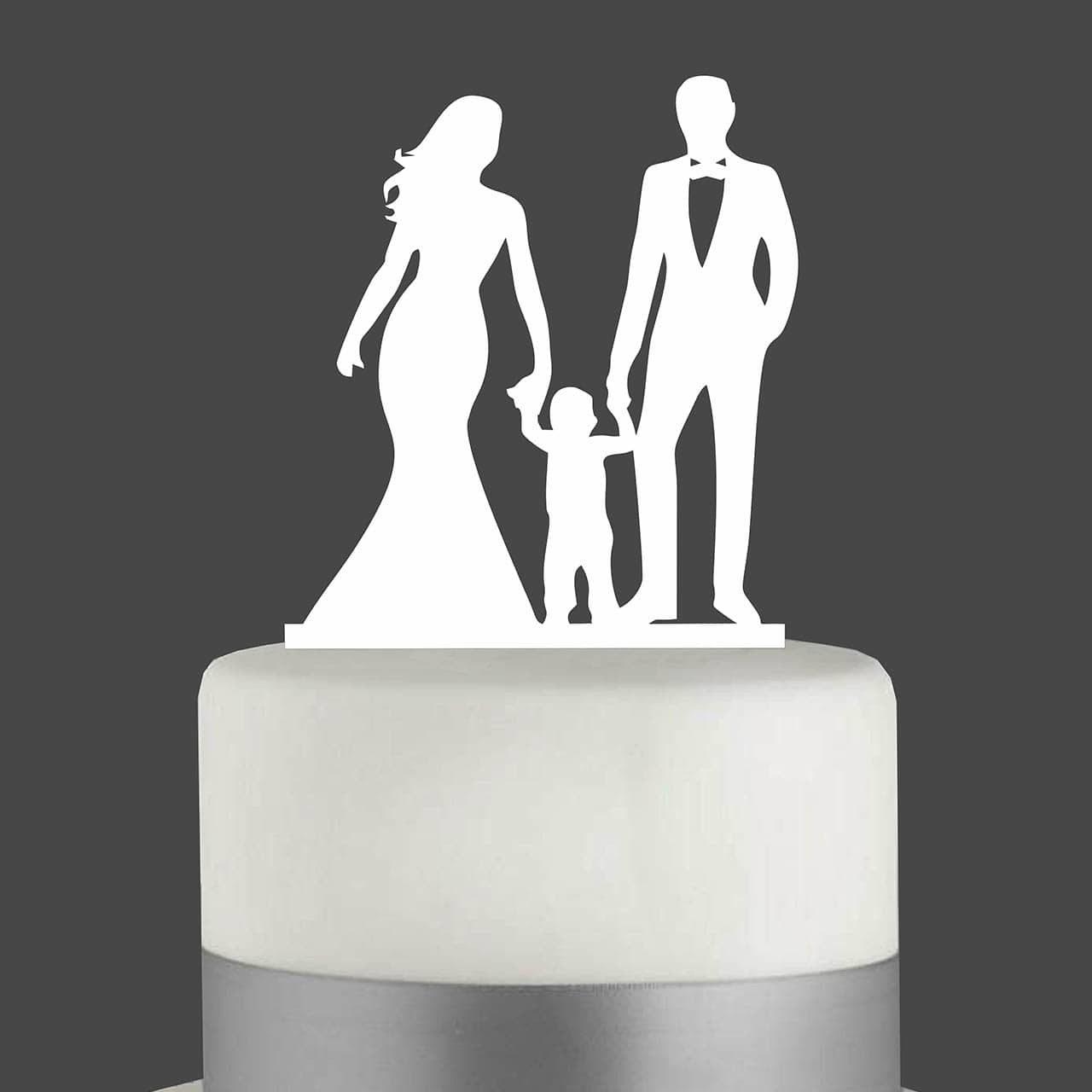 """Cake Topper """"Ehepaar mit Kleinkind"""""""