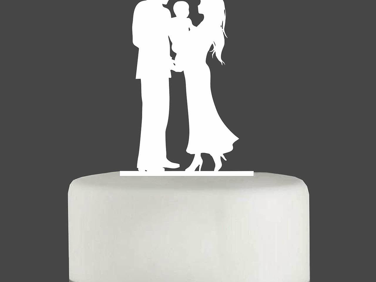 "Cake Topper ""Ehepaar mit Baby"""