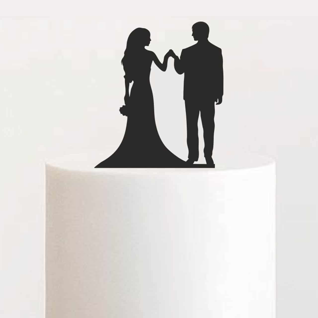 "Cake Topper ""Hand in Hand"""