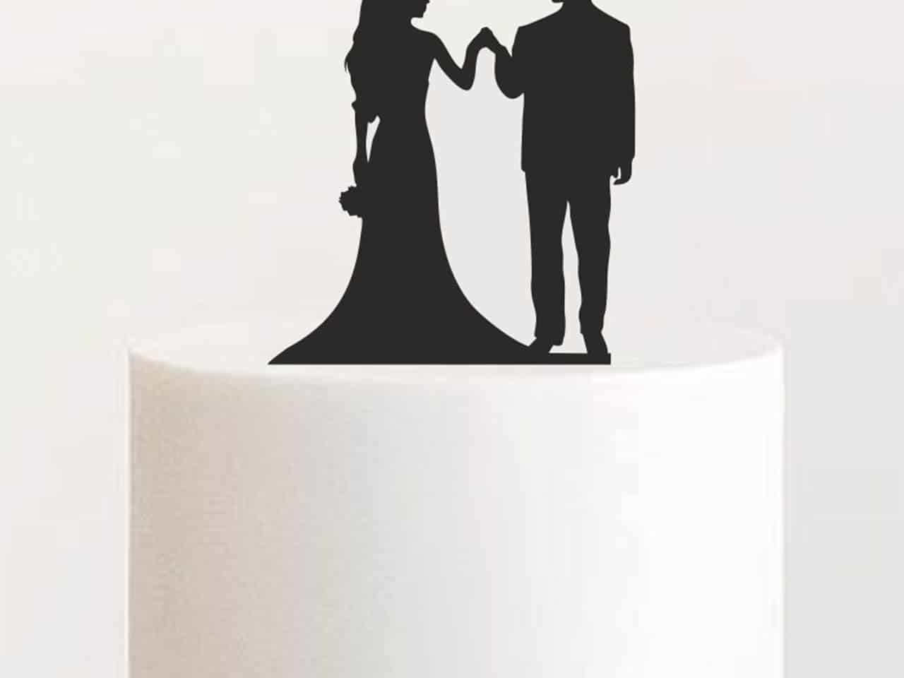 """Cake Topper """"Hand in Hand"""""""
