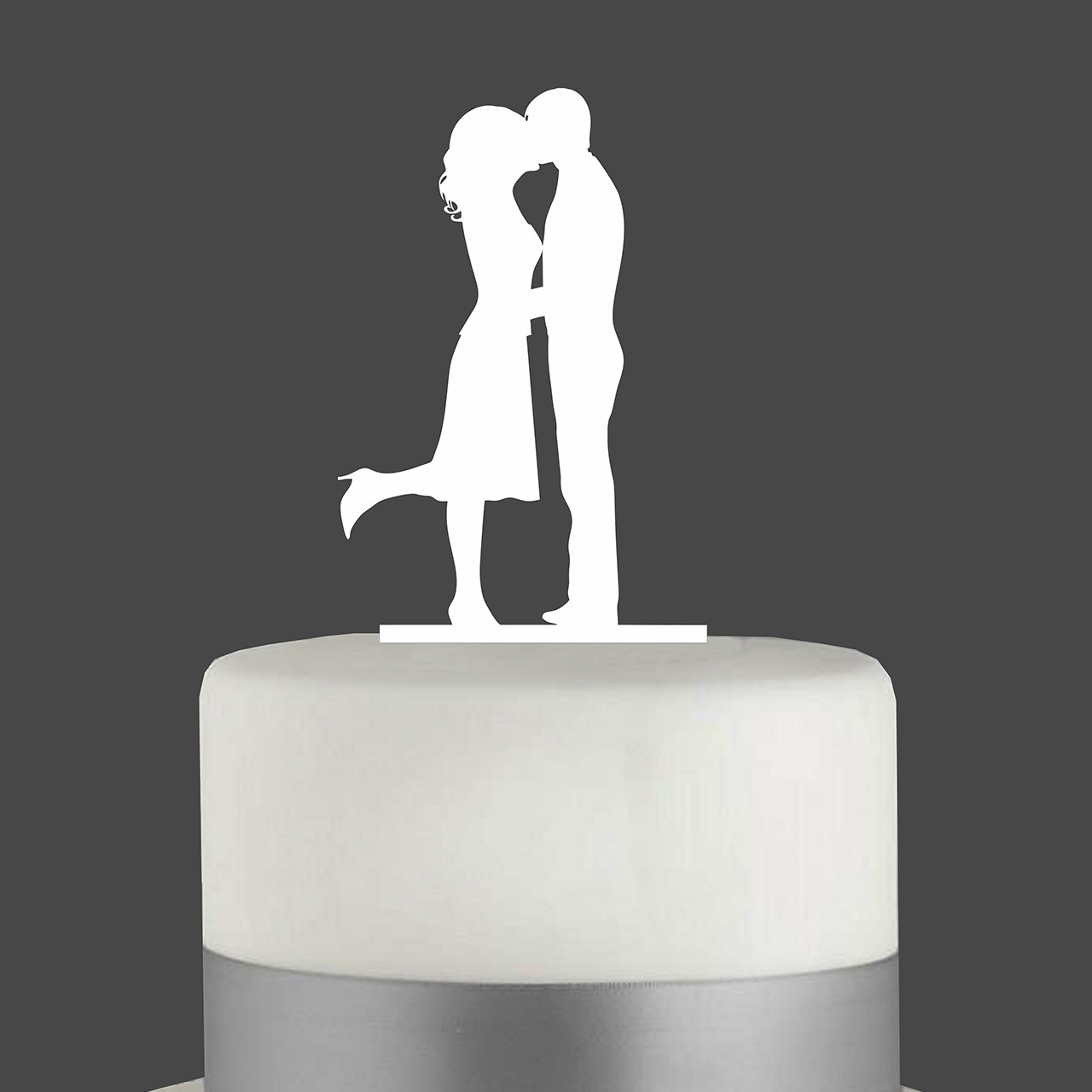 "Cake Topper ""Kiss"""