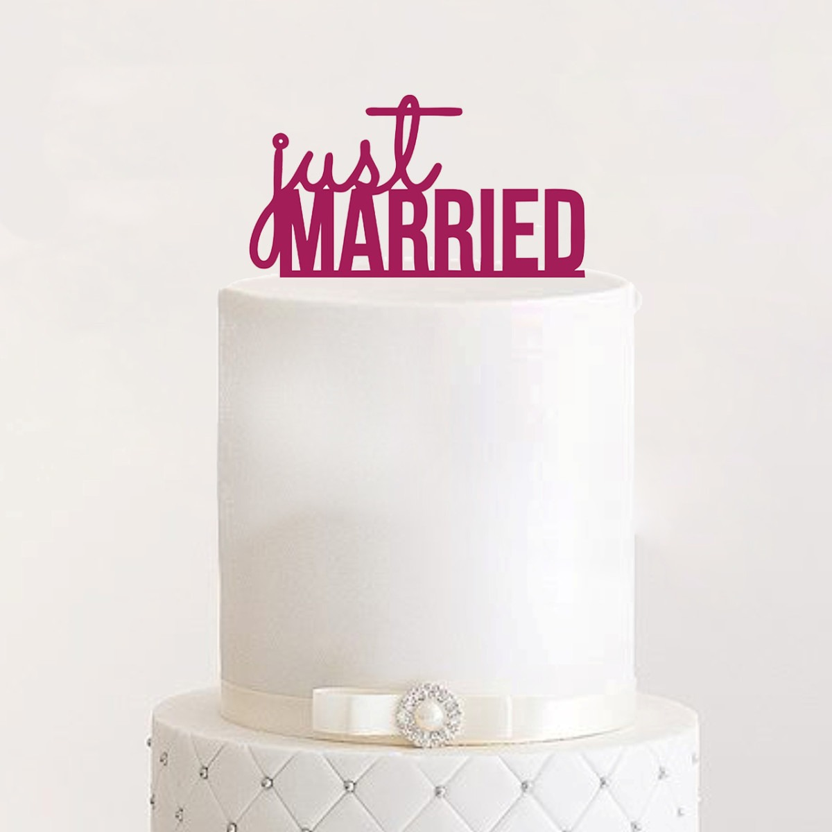 "Cake Topper ""Just Married"""