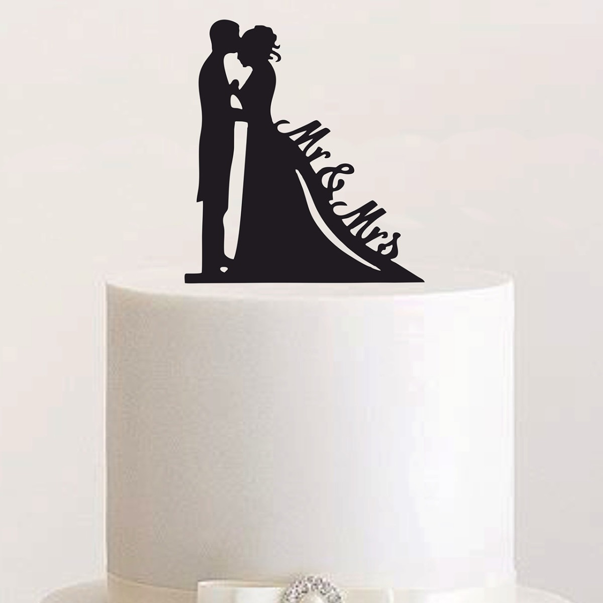 "Cake Topper ""Brautpaar Mr & Mrs"""