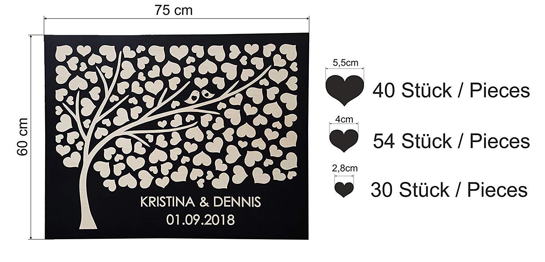"""Hochzeitsgästebuch """"Baum"""" – Personalisiert"""