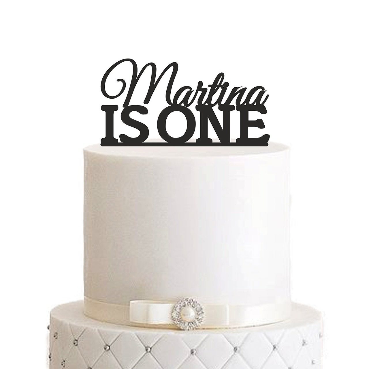 "Cake Topper ""IS ONE"" – Personalisiert"