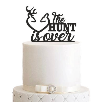 "Cake Topper ""The hunt is over"""
