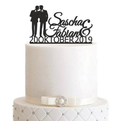 """Cake Topper """"Ehemann & Ehemann"""""""