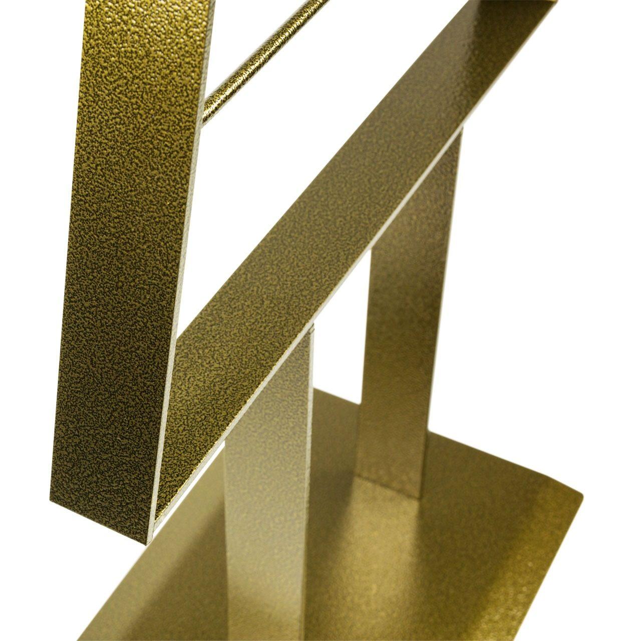 Metall-Weihnachtsbaum (Schwarz-Gold Antique)