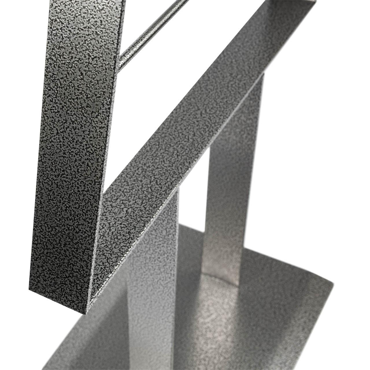 Metall-Weihnachtsbaum (Schwarz-Silber Antique)