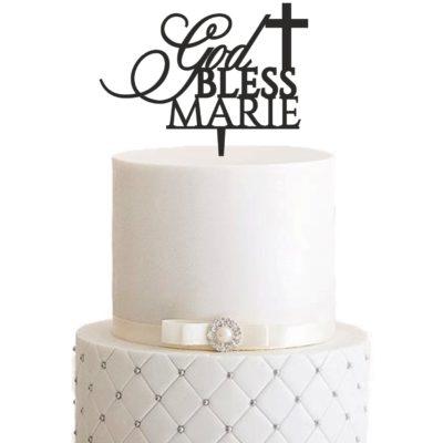 """Cake Topper """"God Bless"""" – Personalisiert"""