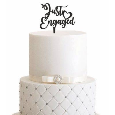 Cake Topper Just Engaged