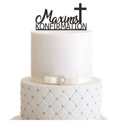 """Cake Topper """"Konfirmation mit Vorname"""" – Personalisiert"""
